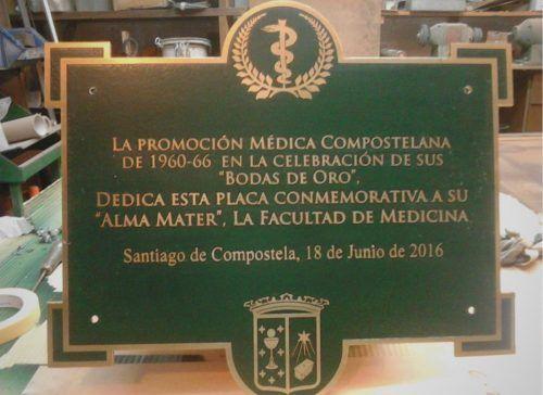 Placas fundición homenaje conmemorativas y profesionales