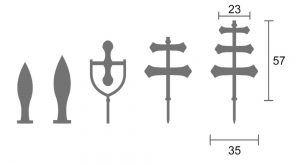 dibujos con medidas de los juegos de la llave
