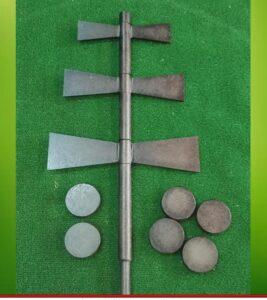 juego llave de Asturias 3 palas giratorias y 6 pellos de 500 a 550 gr de peso