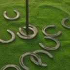 juego herradura Consiste en meterlas en el mástil clavado en tierra